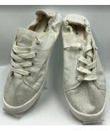 Torrid Women's White Glitter Sneakers Elastic Heel Lace-Up Size 11.5W Wo... - $19.98