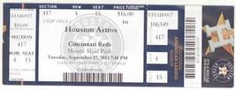 Cincinnati Reds @ Houston Astros 9/17/13 Full Box Office Ticket! - $3.36