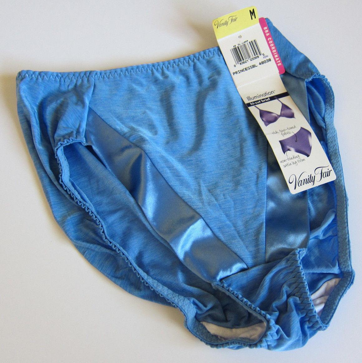 NEW VINTAGE Vanity Fair Satin V-Panel Illumination Brief Panties - SZ M  Medium - $14.84