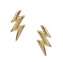 Cool Metal Lightning Stud Earrings - $4.80
