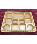 Gold Eleven Compartment plastic plate or Plastic Thali - 50 plates - $120.00
