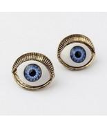 Unique Style Blue Eyes Stud Earrings - $4.79