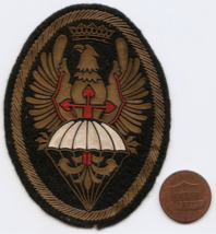 Vintage Spanish Army Airborne Paratrooper Plastic On Felt Shoulder Patch  - $8.00