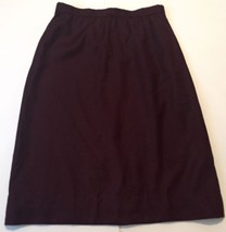 Vintage Deep Plum Skirt Size 16 Long Classy Gathered Waist Lined 6 8 10 - $14.84