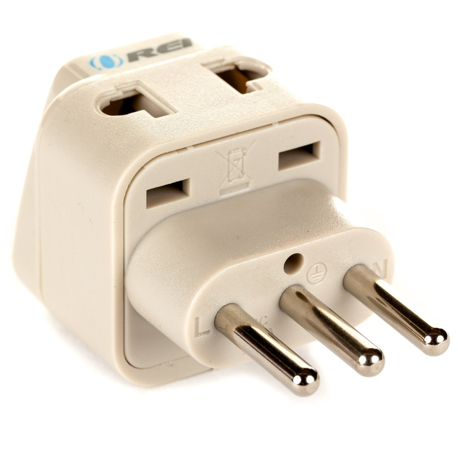 OREI Grounded Universal 2 in 1 Plug Adapter Type L for Italy, Uruguay & more ...