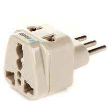 OREI Grounded Universal 2 in 1 Plug Adapter Type L for Italy, Uruguay & more ... image 3