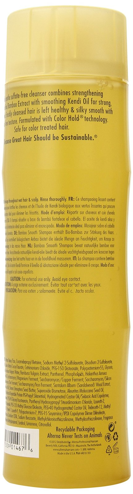 Alterna Bamboo Smooth Anti-Frizz Unisex Shampoo, 8.5-Ounce
