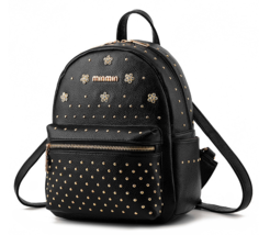 Rivets New Women Leather Backpacks Free Shipping Girl's Bookbags N182-1 - $37.99