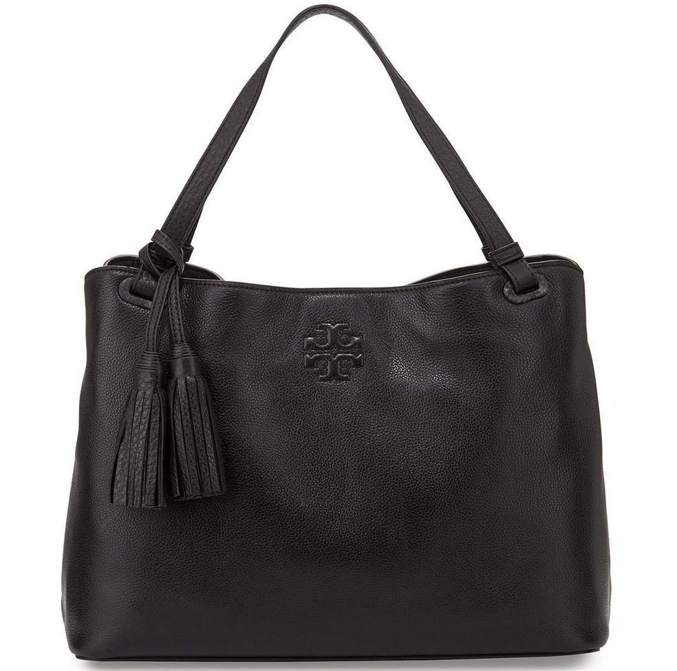 1b89f750827f Tory Burch Thea Center Zip Tote Bag Black and 50 similar items. 57