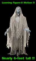 Life Size Animated EVIL ENTITY GHOST REAPER ZOMBIE Light up Sound Hallow... - $149.97