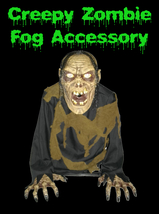 Walking Dead LifeSize ANIMATED ZOMBIE Fog Machine Accessory Halloween Ha... - $53.97