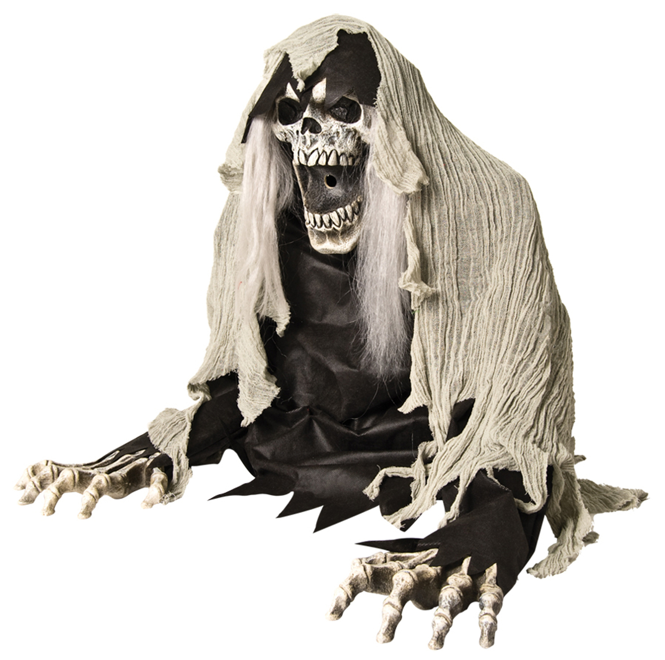 Life Size Reaper Demon ANIMATED ZOMBIE GHOUL Fog Machine Accessory Haunt FX Prop