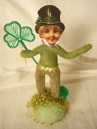 Vintage Inspired St. Patrick's Day Spun Cotton Wee Leprechaun  no. 194A