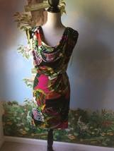Alfani Multi-color Island Butterfly Cap Sleeve Draped Dress SZ 2 NWT - $49.49