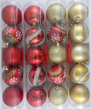 "Christmas 2"" Ball Ornaments Glitter / Metallic Accented 5 Ct/Pk, Select Design - $3.49"