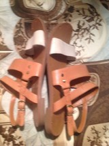 Dolce Strap OFF Flat Studded Womens by Ankle 7 DV WHITE 5M Sandals Vita TAN Y0nw0Ez6xq
