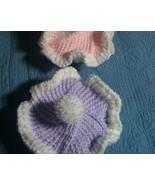 (50)Hand knitted vanilla lavender cupcake  beanie/cap/hatm with pom pom - $15.00