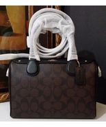 NWT COACH MINI BENNETT SATCHEL IN SIGNATURE F36702 IM/BROWN/BLACK $295 - $185.07