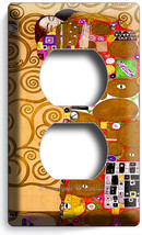 Gustav Klimt Tree Of Life Gold Leaf Painting Duplex Outlet Wall Plate Art Cover - $8.99