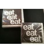 Vintage Party House Napkins Kalla Designed by Kalla Eat Eat Eat 2-Ply Lo... - $14.01