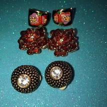 Joan Rivers Vintage Clip On Earrings 3 Pair Very Nice - $89.09