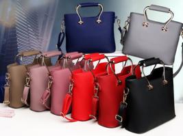 Mixed Color Women Shoulder Bags Medium Tote Bags,Purse M189-7 - ₨2,524.89 INR+
