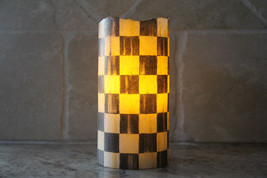 Vanilla Scented Flameless LED Pillar Candle made with Mackenzie-Childs C... - $24.99