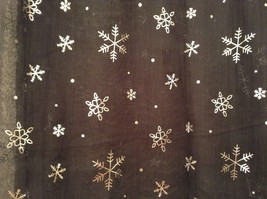 Metallic snowflake overlay print holiday winter scarf in choice of colors image 6