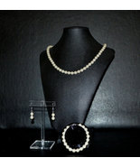 Ivory pearl Jewelry Set with Spacers 3pc - $30.00