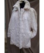 SUPER SOFT Cream Color Vintage Womens Rabbit Fur Stroller L/XL - $375.00