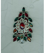 Solidly Emerald Green Ruby Red  Rhinestone Encr... - $189.00