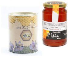 Thyme Raw Honey Canister 400gr from KEAS ISLAND Greek honey NEW HARVEST - $21.70