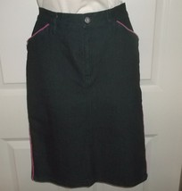 See by Chloe Black Denim Pencil Wiggly Slim fit A-line Knee Length Skirt... - $39.99