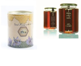 Flower-Conifer Trees Raw Honey Canister 400gr From Olympos Mountain Greece - $19.90
