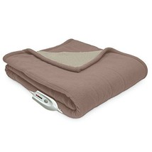 Electric Throw Heated Blanket Warming Reversible Washable Soft 4 Heat Se... - $69.18