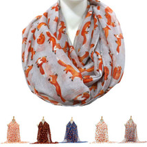 2016 Casual All-Match Women Scarf Cute Fox Animal Print Soft Long Shawl ... - $6.54 CAD