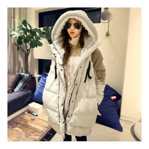 Woman Winter Thick Loose Middle Long Down Coat    beige   S - $71.99
