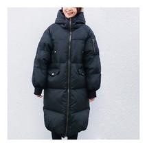 Winter Couple Design Slim Plus Size Cotton Coat Hoodied    black   XS - $67.99