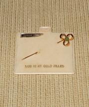 Three Leaf Clover Shamrock Trefoil Stick Pin 1/20 12 kt Gold Filled and ... - $20.00