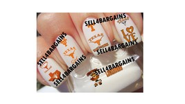 UNIVERSITY OF TEXAS LONGHORNS COLLEGE LOGOS》10 Different Designs Nail Ar... - $16.99