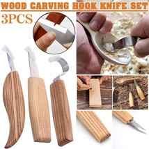 3pcs/set DIY Hand Chisel Wood Carving Tools Woodcarving Cutter Set Chip ... - $19.80