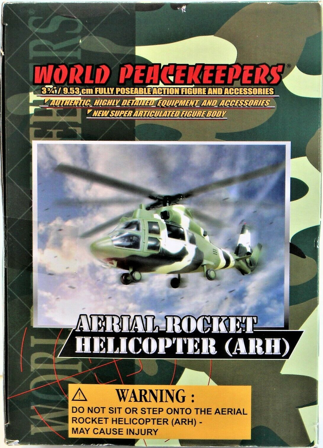 World Peacekeepers Power Team Elite Aerial Rocket Helicopter (ARH) 1:18 Scale image 6