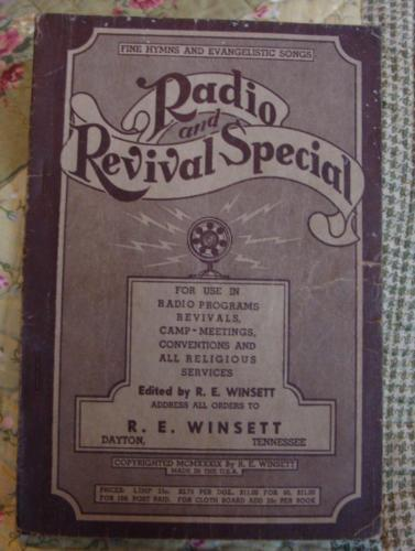 Shaped Note 1939 Radio Revival Special R.E. Winsett Paperback Evangelistic Hymns