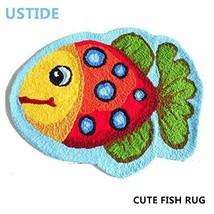 Bath Mat Cute Fish Non Skid Floor Rug Bedroom Doormat 2x3 Kids Boy Girl ... - $46.09