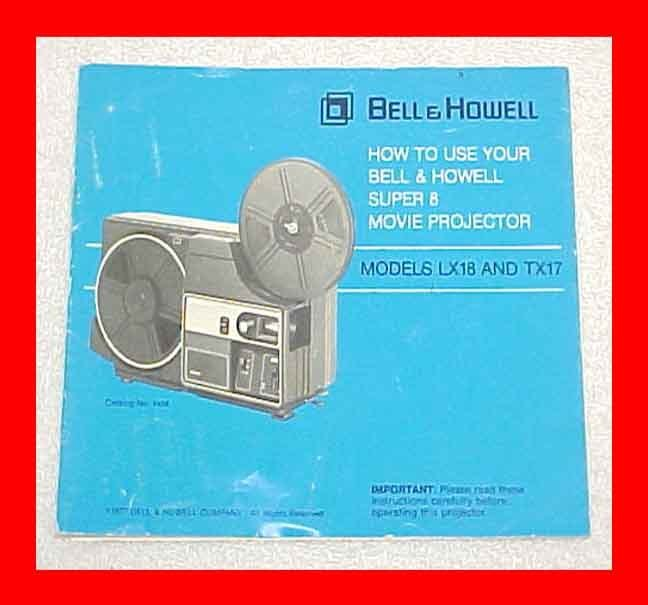 bell and howell super 8 projector manual