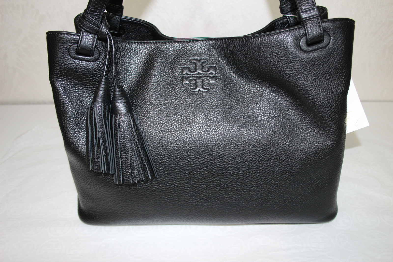 d70547a49c04 Tory Burch Thea Center Zip Tote Bag Black Leather  500 11169713