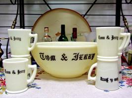 McKee Custard Glass Tom & Jerry Punch Bowl Set - $41.58