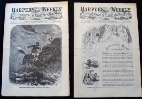 2 Re-Issues December 5 and 12 1863 Harpers Weekly Historic Newspapers Civil War
