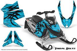 SKI-DOO Rev Xp Snowmobile Sled Creatorx Graphics Kit Wrap Tribal Bolts Blue Ice - $296.95