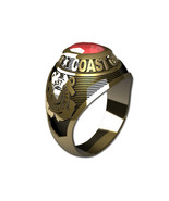 US COAST GUARD RING LADIES TRADITIONAL-14KT GOLD - $999.00